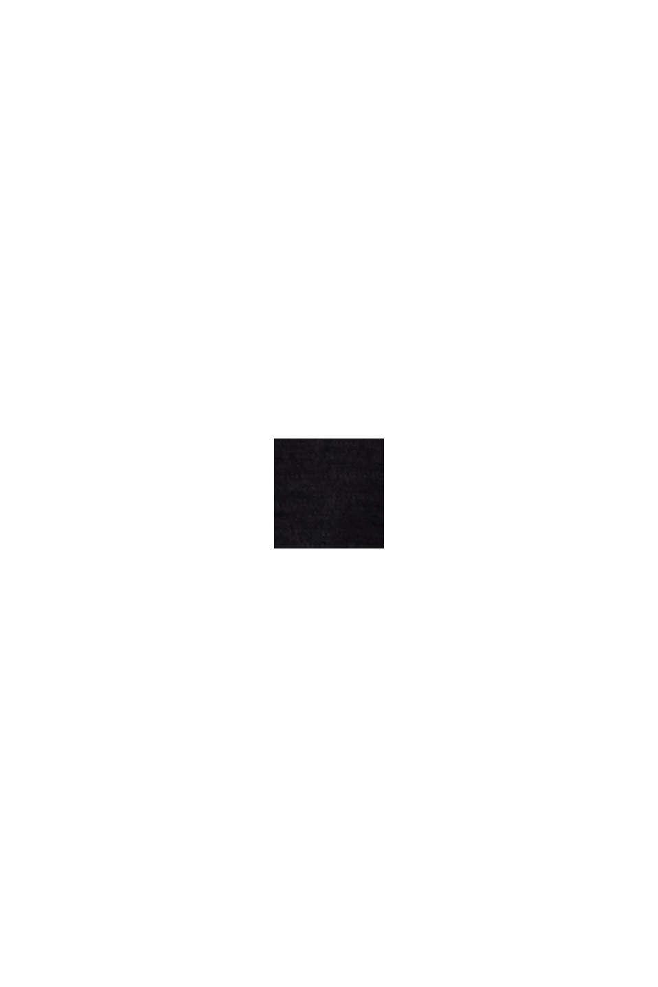 Jersey con textura, 100 % algodón ecológico, BLACK, swatch