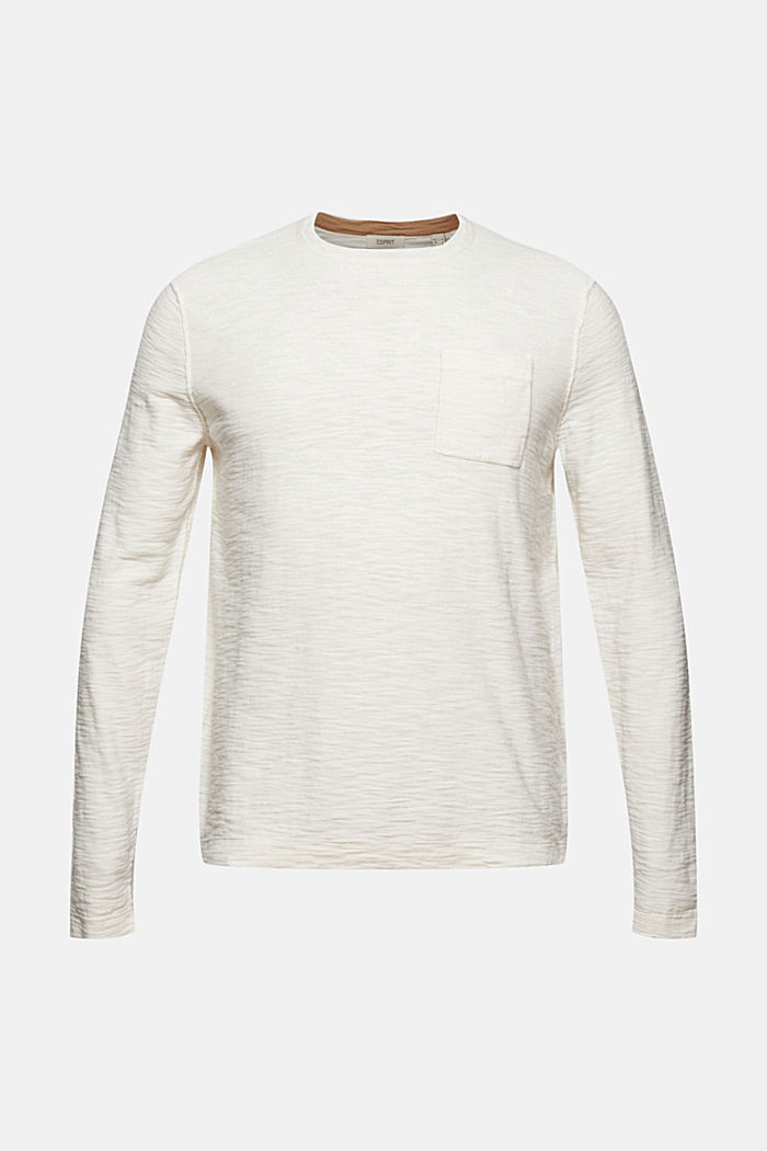 Jumper with texture, 100% organic cotton