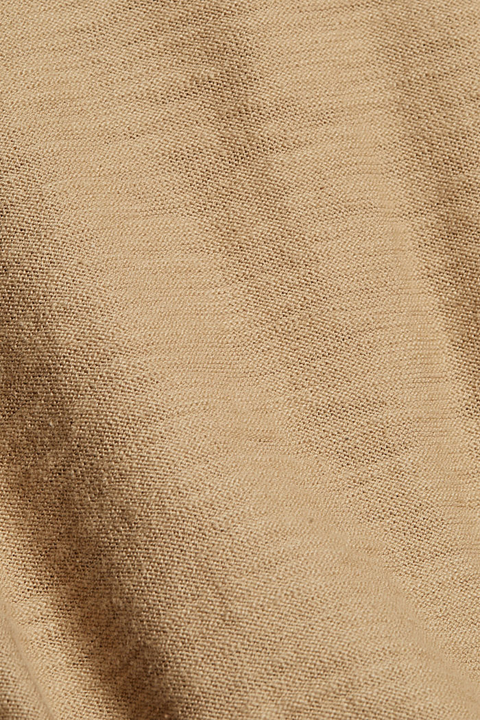 Jumper with texture, 100% organic cotton, CAMEL, detail image number 4