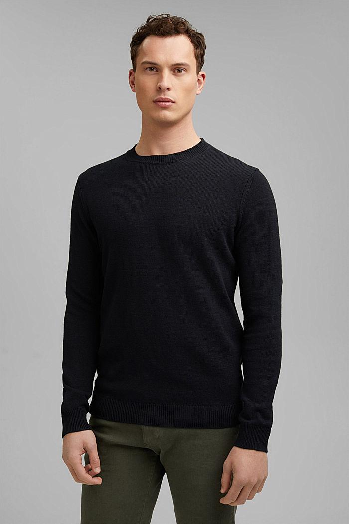 #ReimagineNaturalLifestyle: Pullover aus Leinenmix, BLACK, detail image number 0