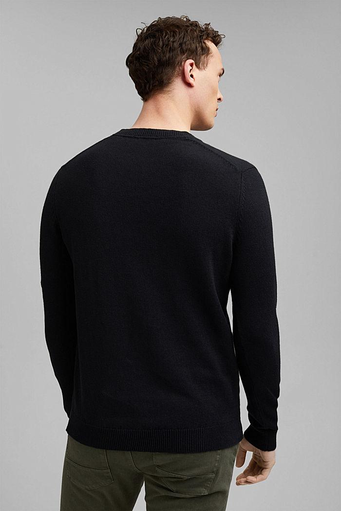 #ReimagineNaturalLifestyle: Pullover aus Leinenmix, BLACK, detail image number 3
