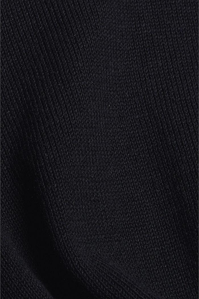 #ReimagineNaturalLifestyle: Pullover aus Leinenmix, BLACK, detail image number 4