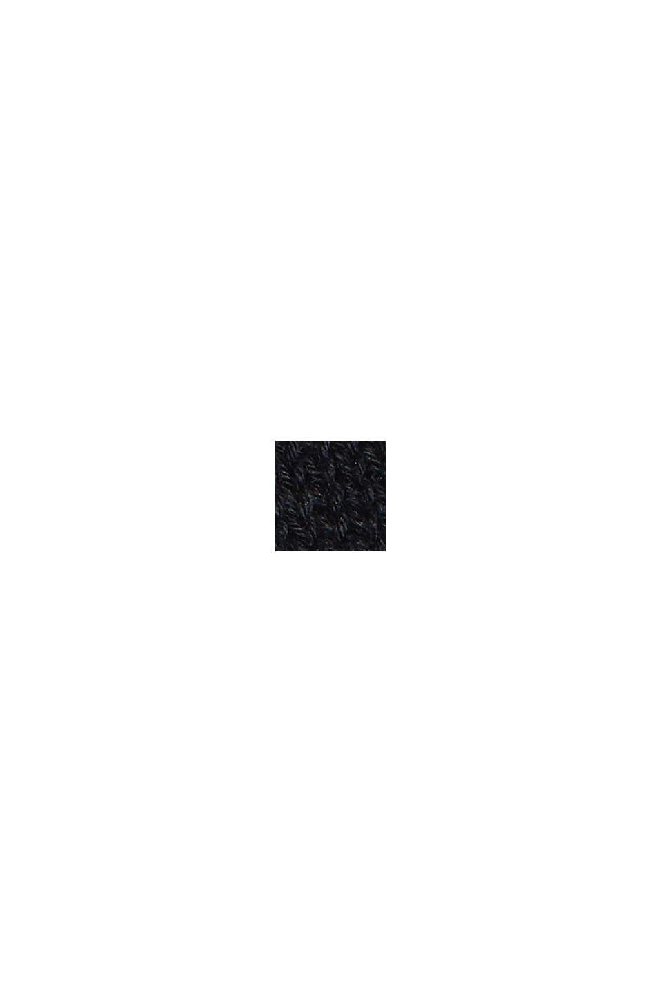 #ReimagineNaturalLifestyle: trui van een linnenmix, BLACK, swatch