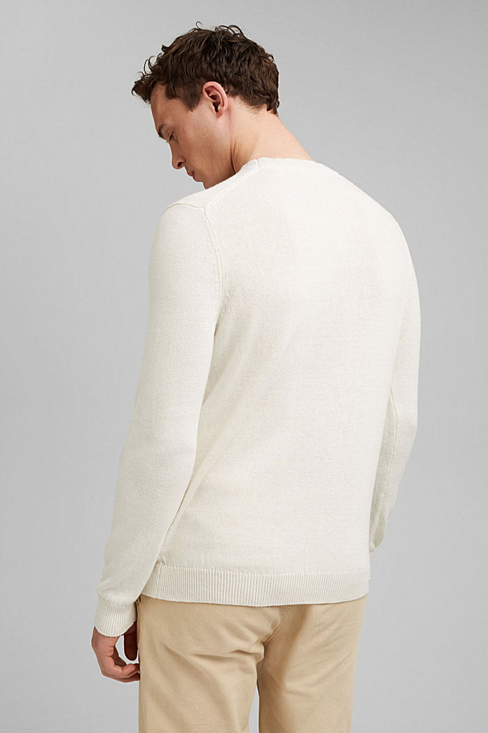 #ReimagineNaturalLifestyle: Pullover aus Leinenmix, OFF WHITE, detail image number 3