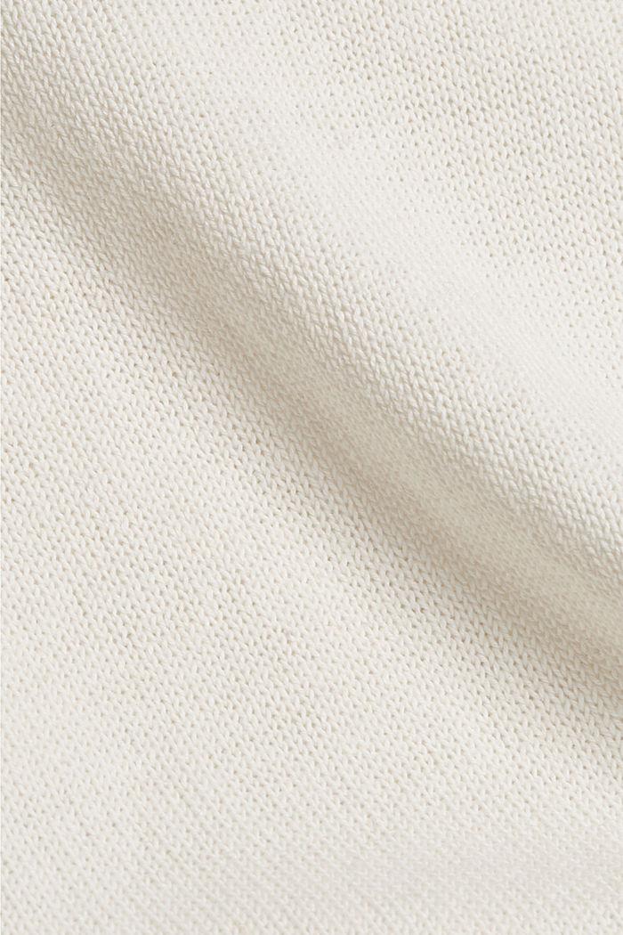 #ReimagineNaturalLifestyle: Pullover aus Leinenmix, OFF WHITE, detail image number 4