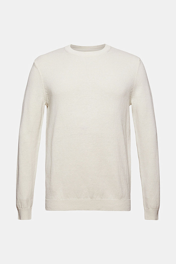 #ReimagineNaturalLifestyle: Pullover aus Leinenmix, OFF WHITE, detail image number 5