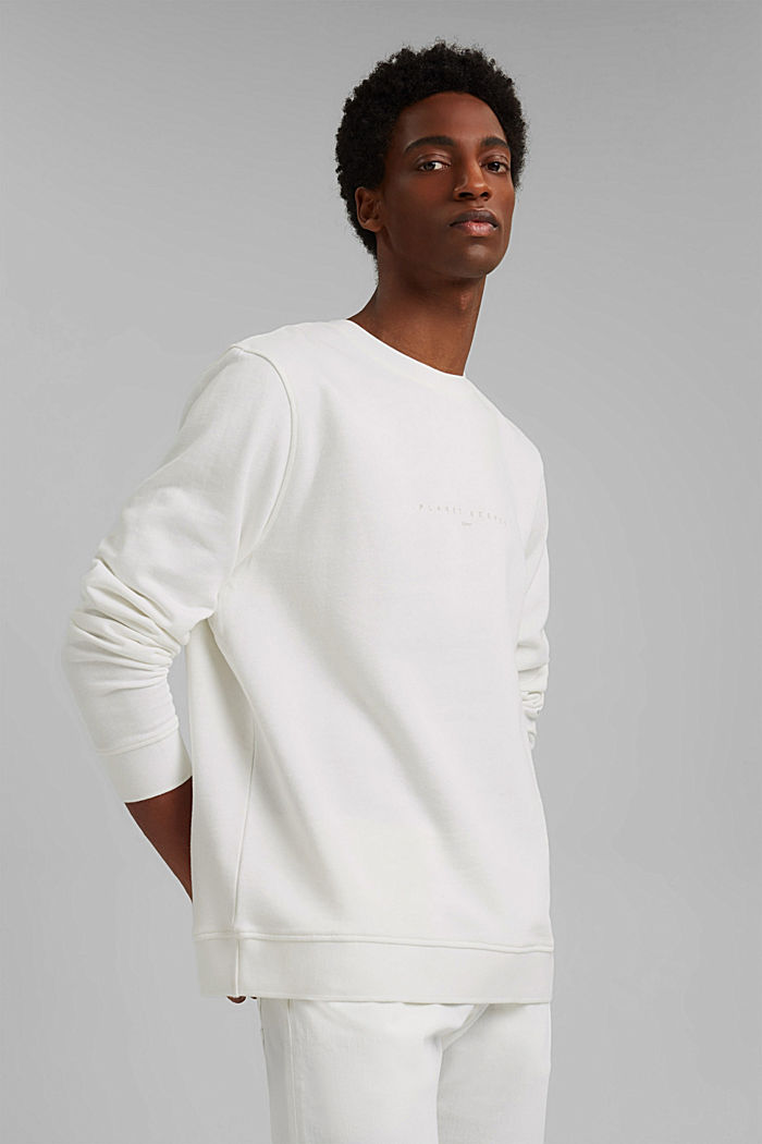 #ReimagineNaturalLifestyle: sweatshirt with linen, OFF WHITE, detail image number 0
