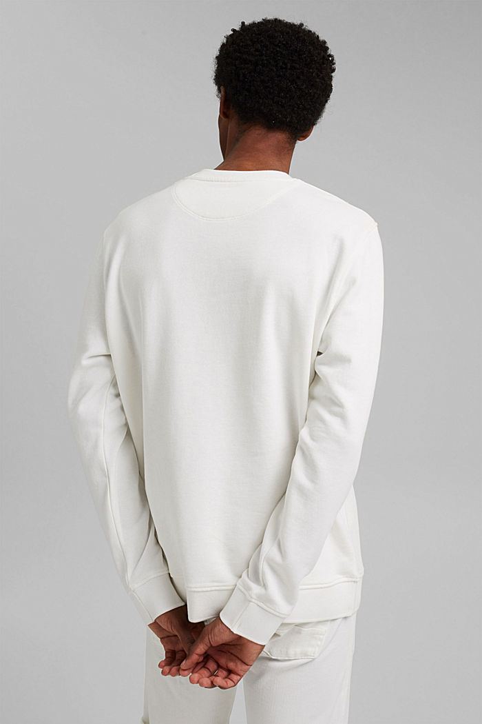 #ReimagineNaturalLifestyle: sweatshirt with linen, OFF WHITE, detail image number 3