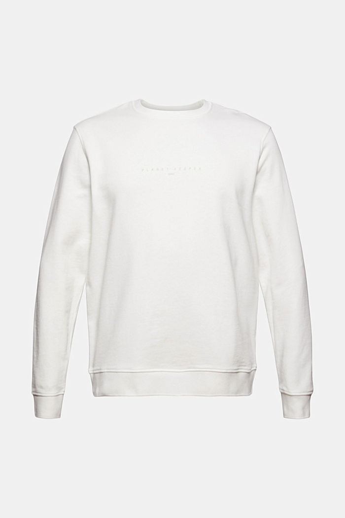 #ReimagineNaturalLifestyle: sweatshirt with linen, OFF WHITE, detail image number 7