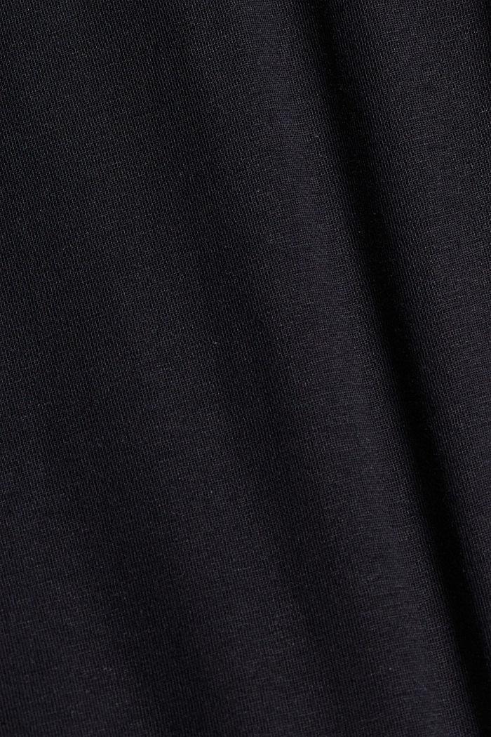 Lino/algodón ecológico: polo de jersey, BLACK, detail image number 4
