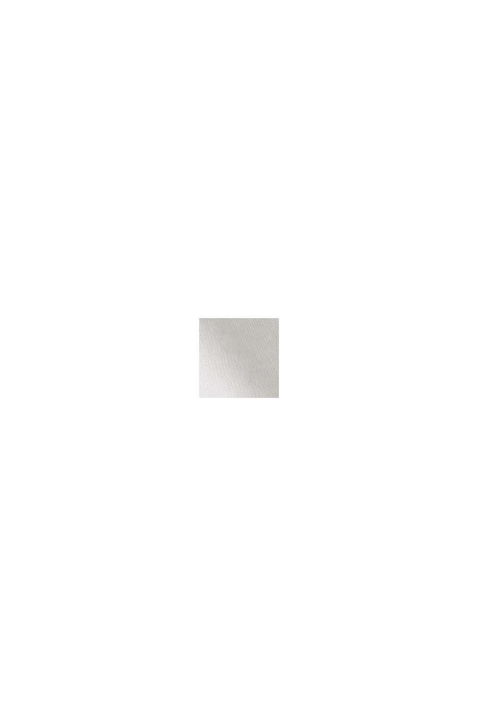 À teneur en lin et coton biologique : Polo en jersey, OFF WHITE, swatch