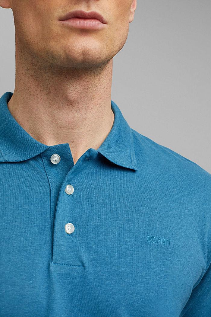 Se lnem/bio bavlnou: polokošile z žerzeje, PETROL BLUE, detail image number 1