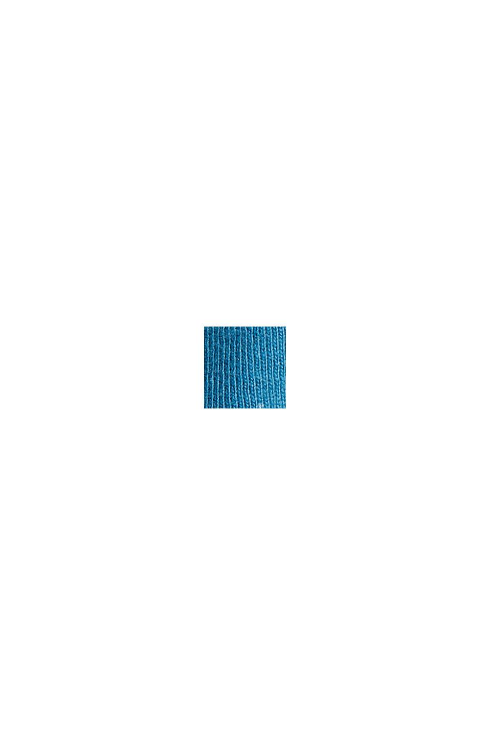 À teneur en lin et coton biologique : Polo en jersey, PETROL BLUE, swatch