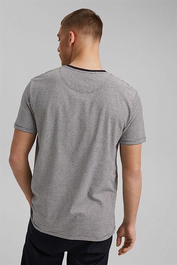 Mit Leinen: Jersey-T-Shirt mit Streifen, BLACK, detail image number 3