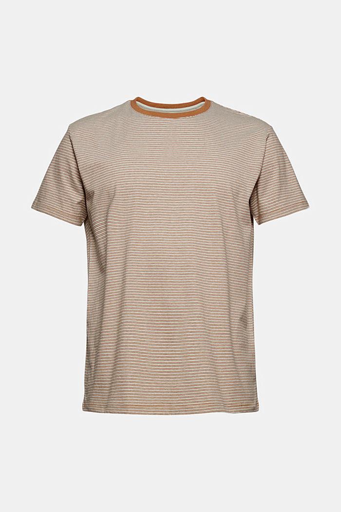 Mit Leinen: Jersey-T-Shirt mit Streifen, CAMEL, detail image number 6