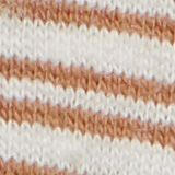 Mit Leinen: Jersey-T-Shirt mit Streifen, CAMEL, swatch