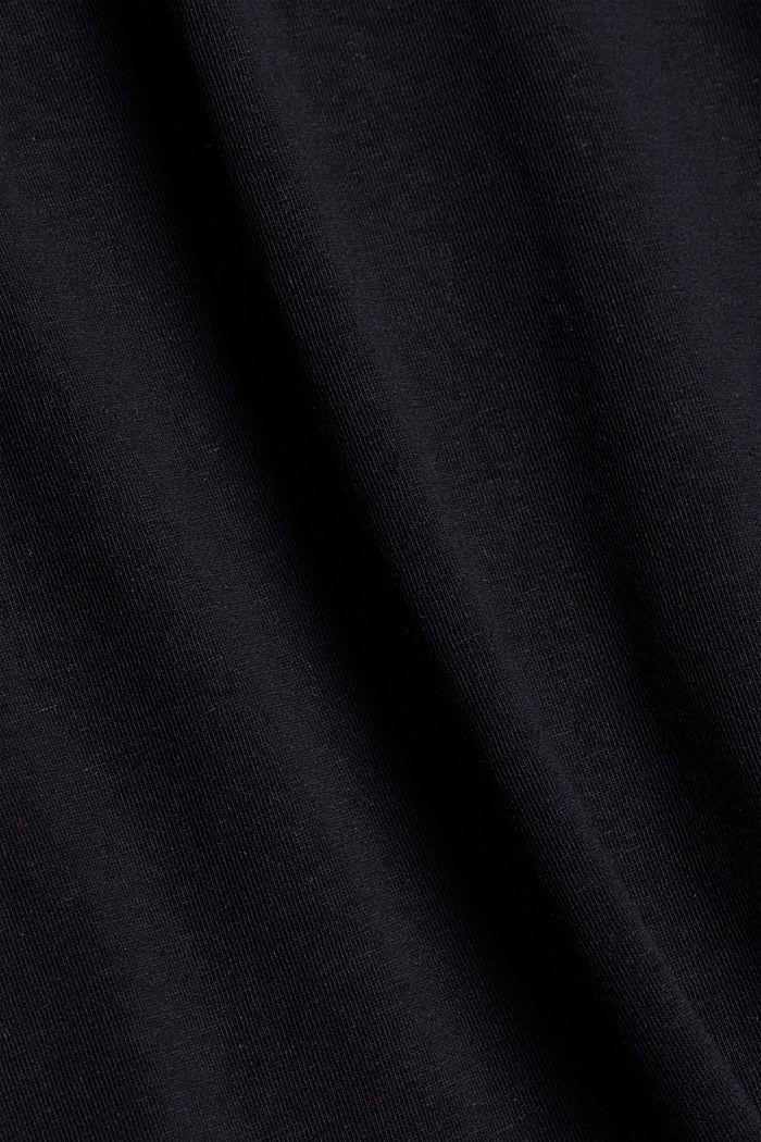 Mit Leinen: Jersey-Shirt mit Tasche, BLACK, detail image number 4