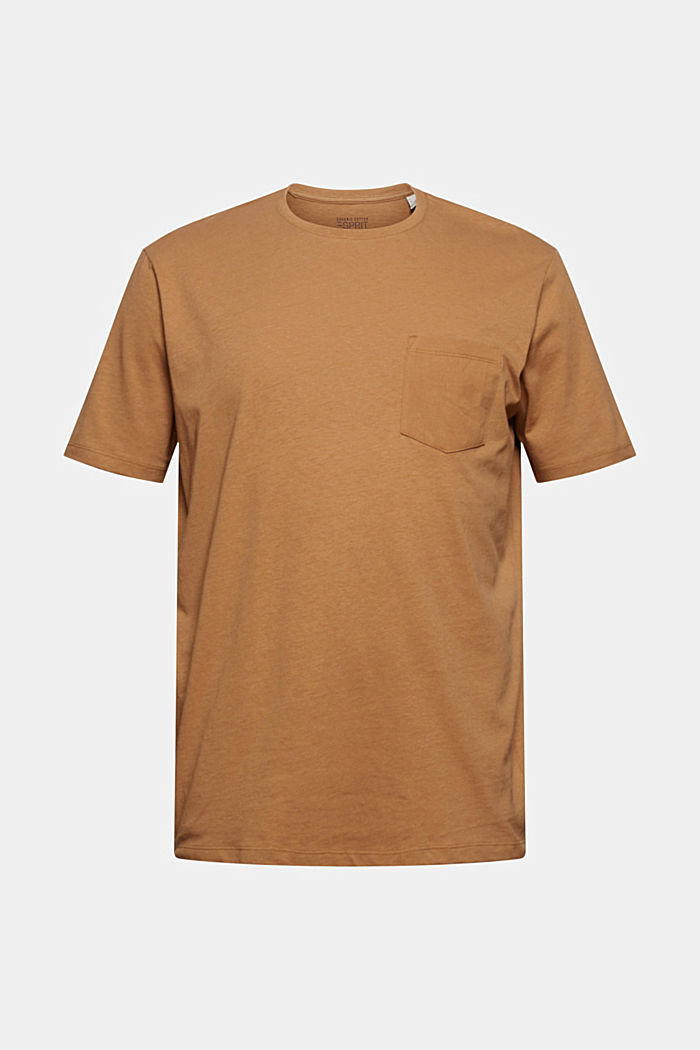 Mit Leinen: Jersey-Shirt mit Tasche
