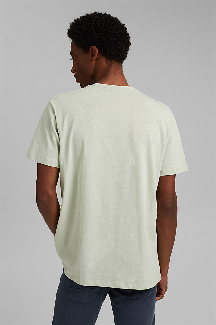 With linen: Jersey top with a pocket, PASTEL GREEN, detail image number 3