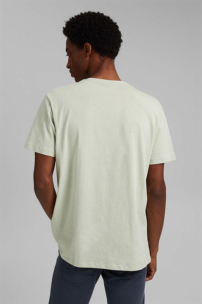 Met linnen: jersey shirt met zak, PASTEL GREEN, detail image number 3