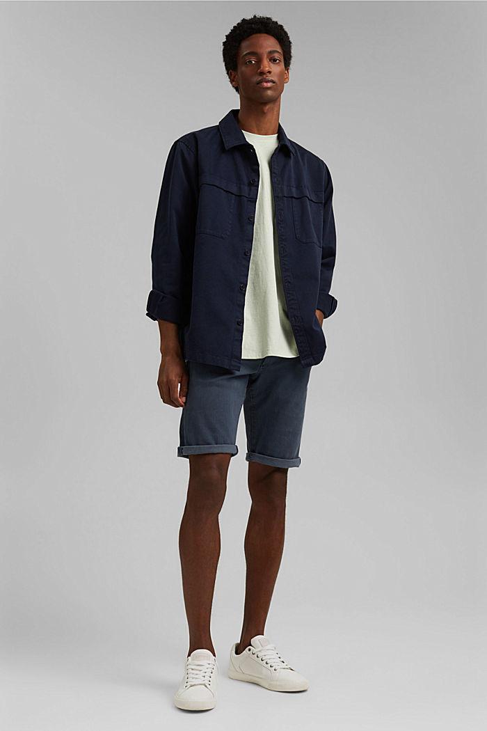 Met linnen: jersey shirt met zak, PASTEL GREEN, detail image number 2