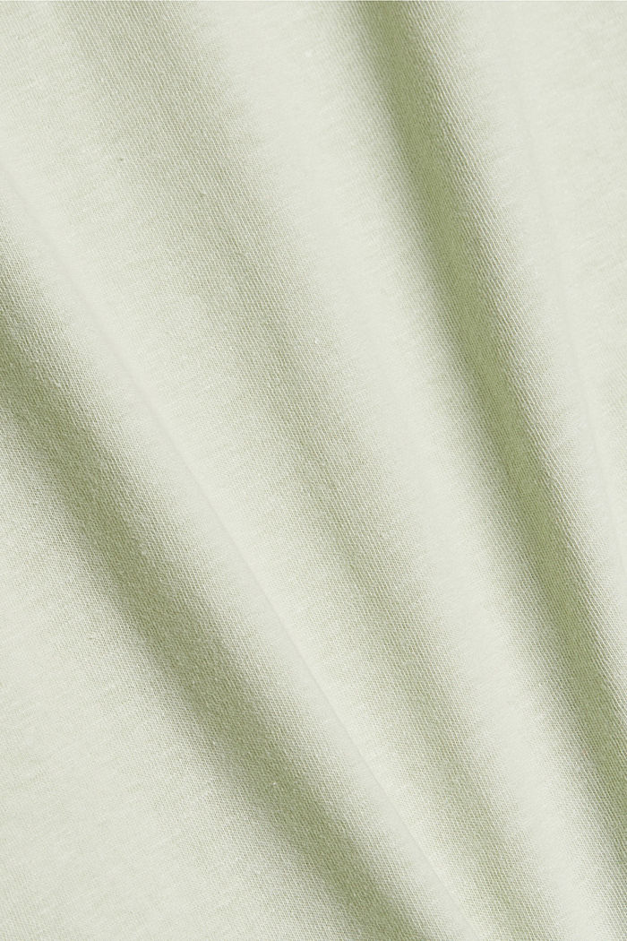 With linen: Jersey top with a pocket, PASTEL GREEN, detail image number 4