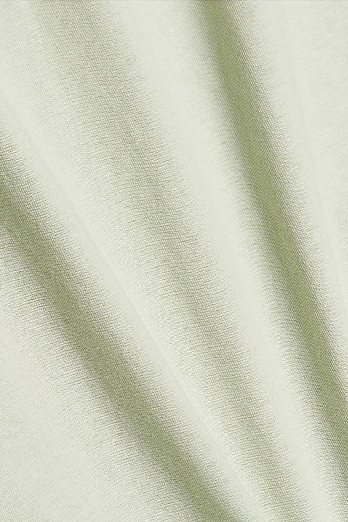 Met linnen: jersey shirt met zak, PASTEL GREEN, detail image number 4