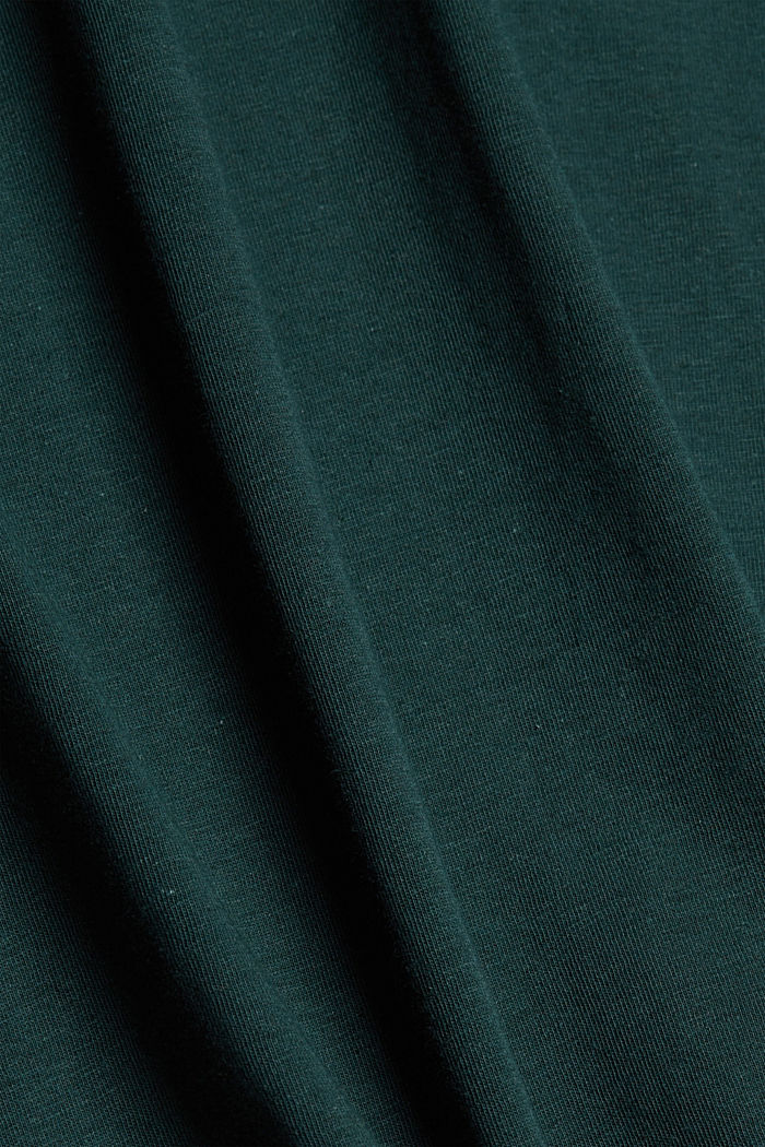 With linen: Jersey top with a pocket, TEAL BLUE, detail image number 5