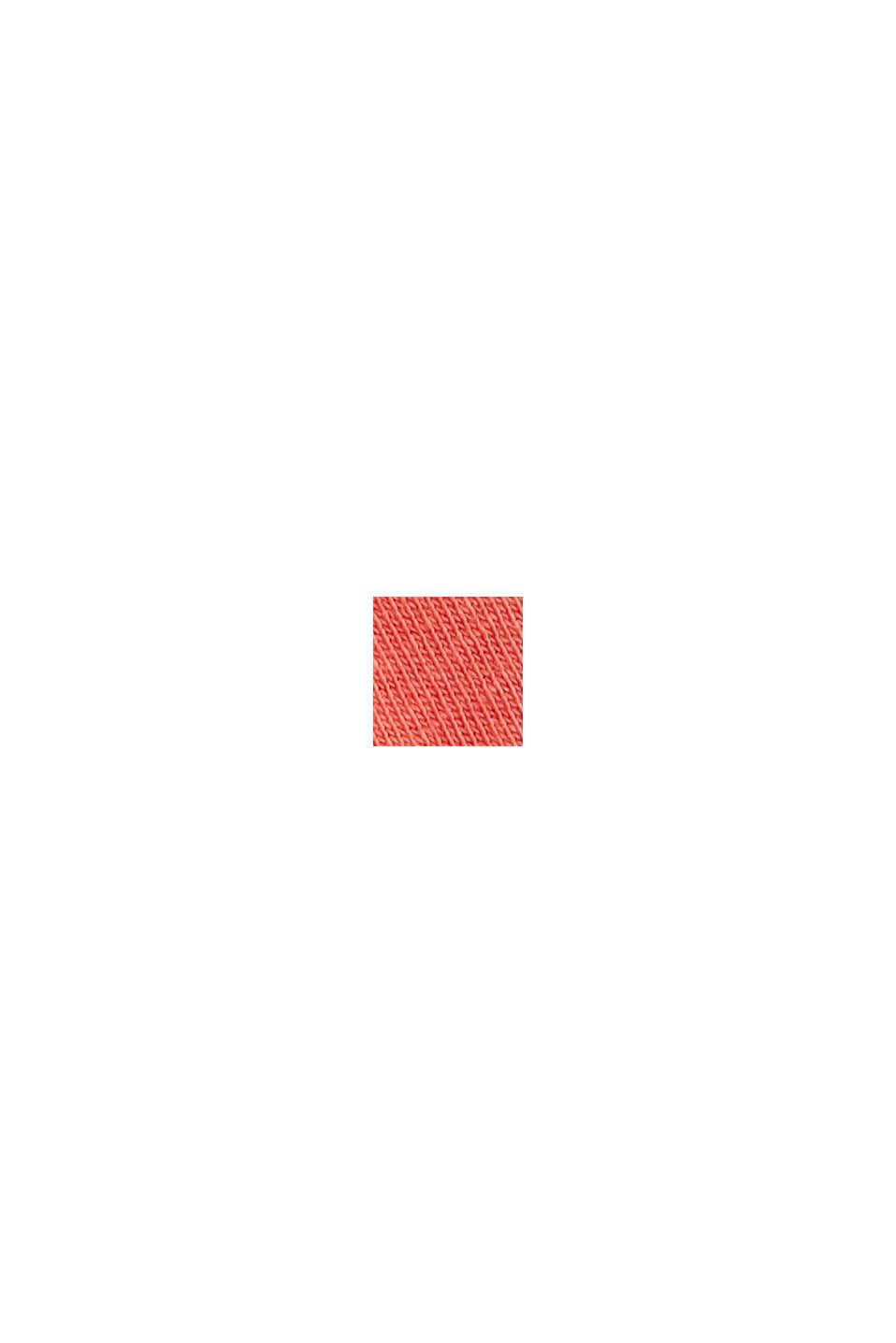 Met linnen: jersey shirt met zak, CORAL RED, swatch