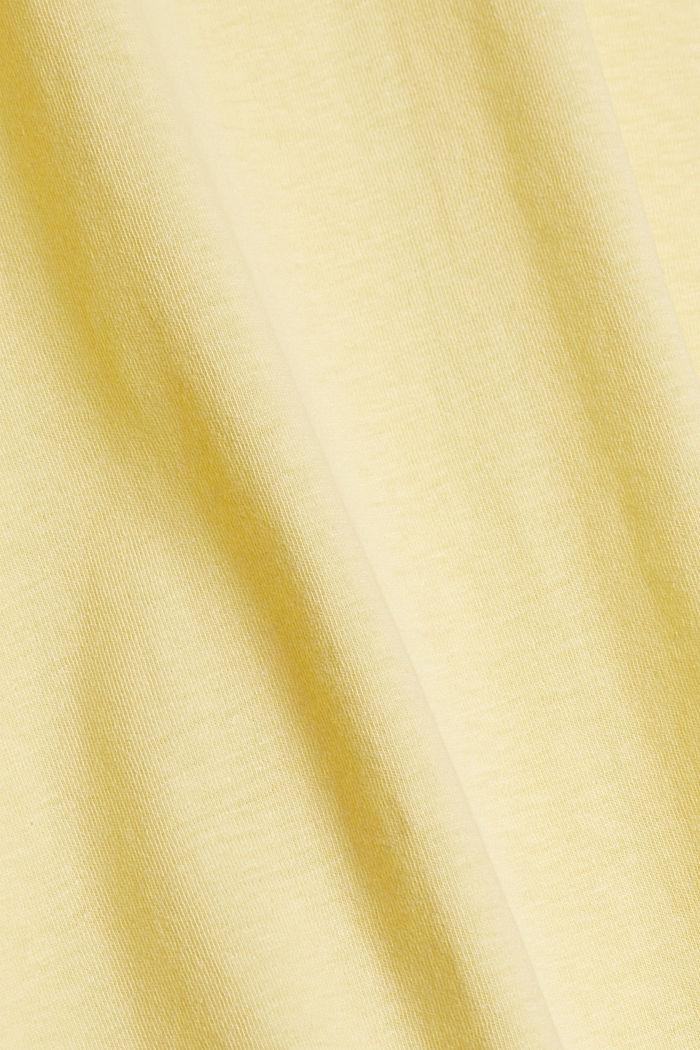 Mit Leinen: Jersey-Shirt mit Tasche, LIGHT YELLOW, detail image number 4