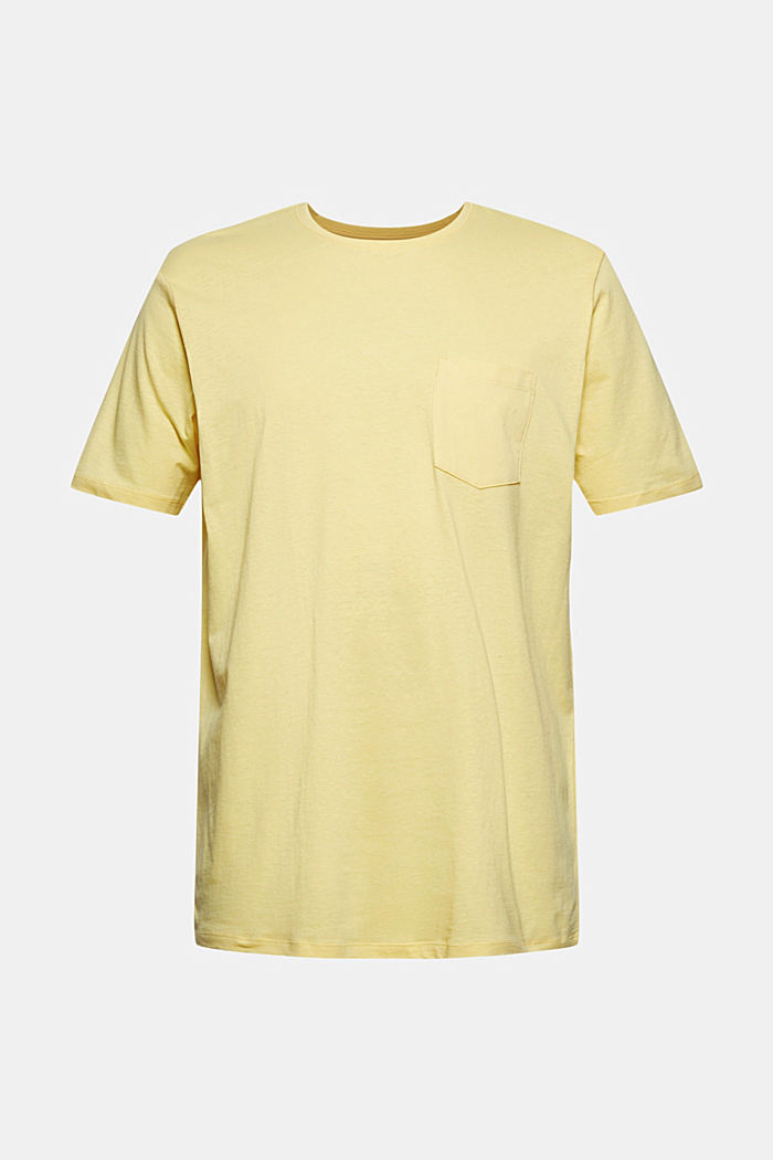 With linen: Jersey top with a pocket, LIGHT YELLOW, detail image number 6