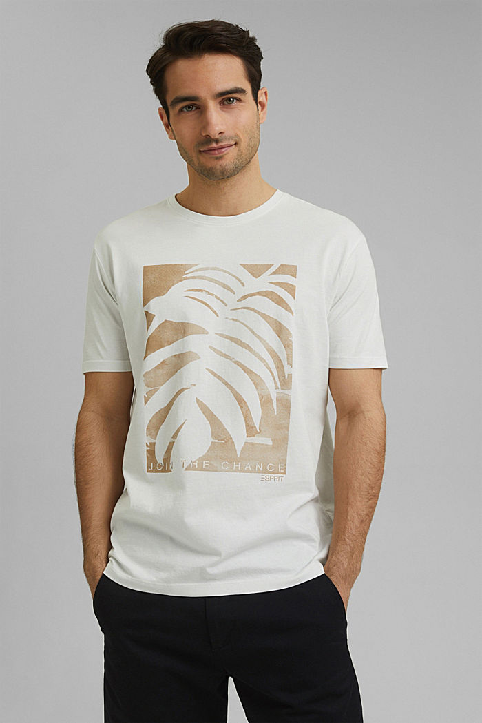 T-Shirt aus 100% Organic Cotton, OFF WHITE, detail image number 0
