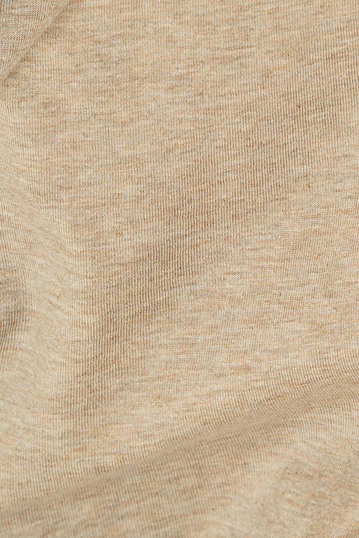 Jersey henley shirt van 100% biologisch katoen, LIGHT BEIGE, detail image number 5
