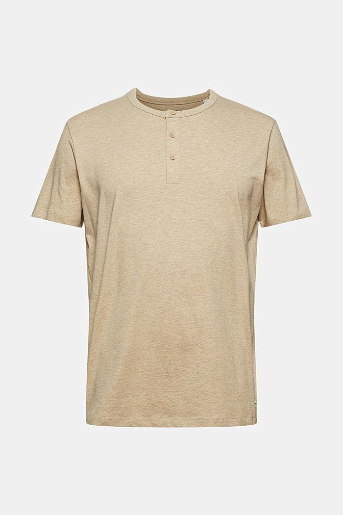 Camiseta henley de jersey en 100 % algodón ecológico