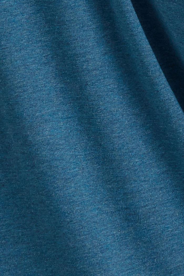 Camiseta henley de jersey en 100 % algodón ecológico, PETROL BLUE, detail image number 4
