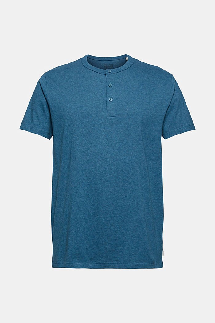 Jersey Henley T-shirt in 100% organic cotton