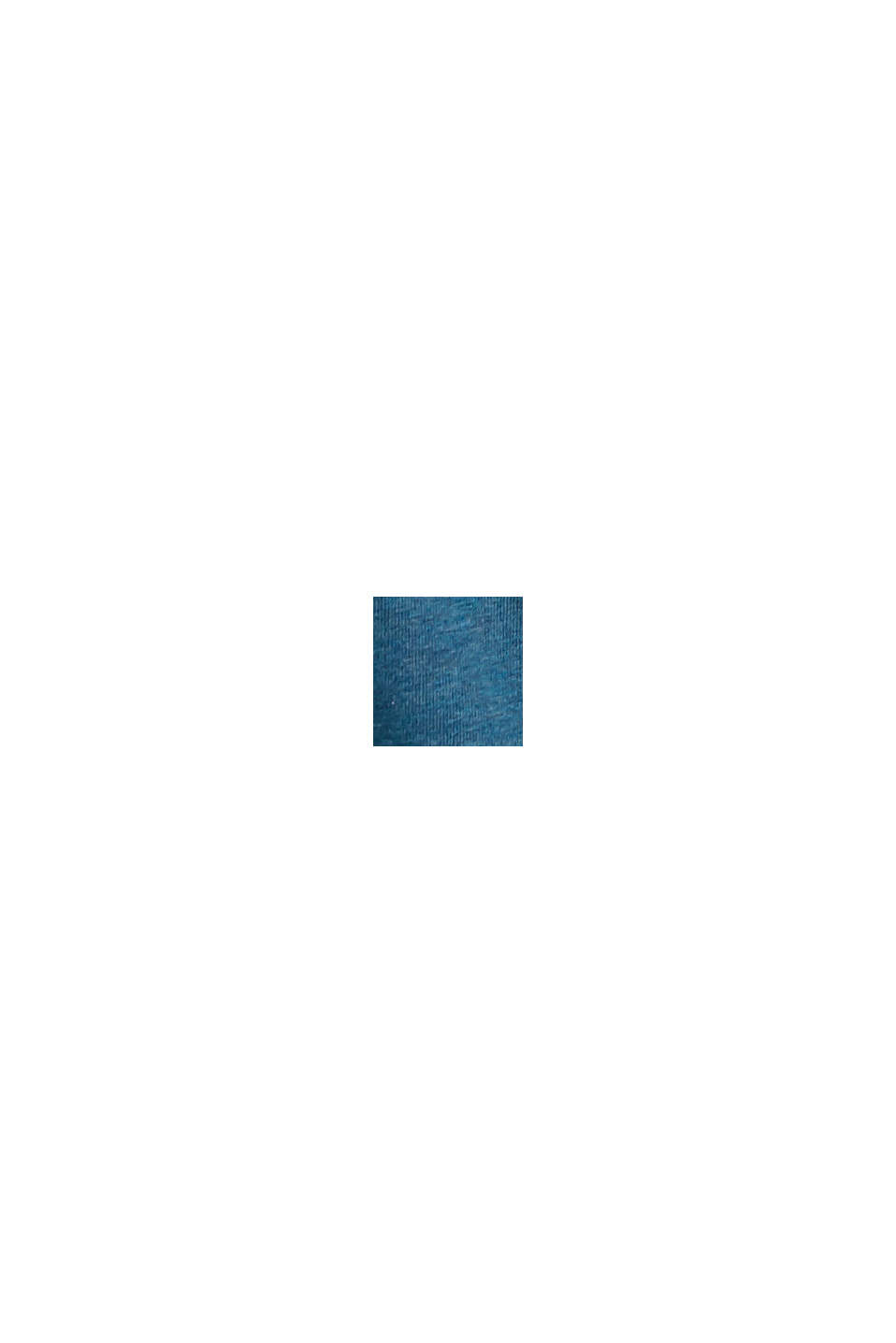 Camiseta henley de jersey en 100 % algodón ecológico, PETROL BLUE, swatch