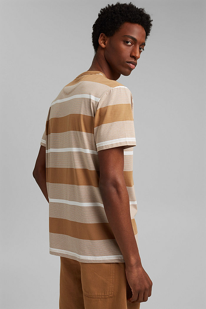 Jersey T-shirt made of 100% organic cotton, CAMEL, detail image number 3