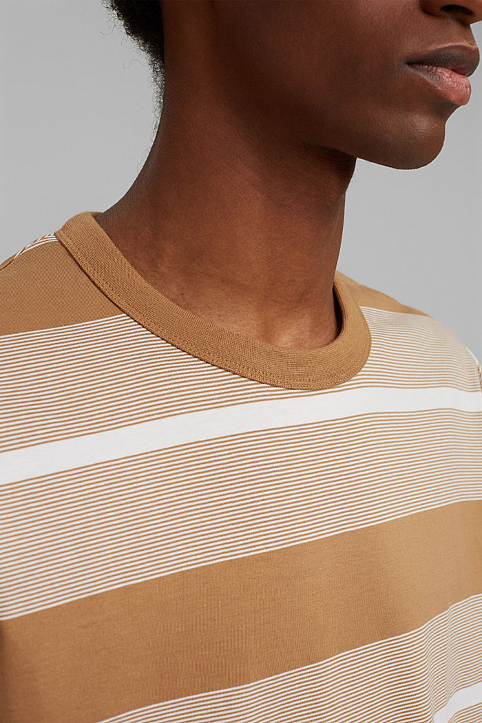 Jersey T-shirt made of 100% organic cotton, CAMEL, detail image number 1