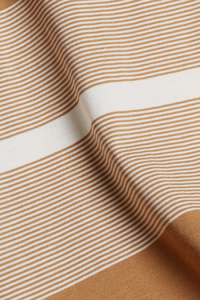 Jersey T-shirt made of 100% organic cotton, CAMEL, detail image number 4