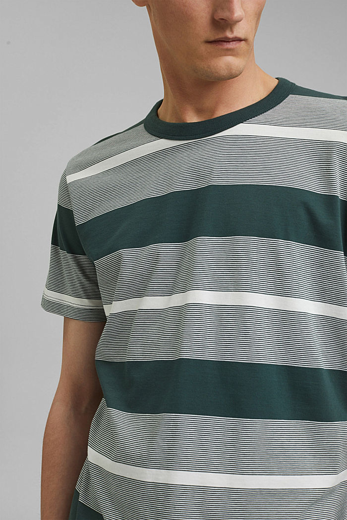 Jersey T-shirt made of 100% organic cotton, TEAL BLUE, detail image number 1
