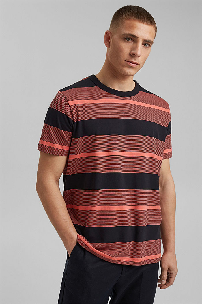 Tričko z žerzeje ze 100% bio bavlny, CORAL RED, detail image number 0