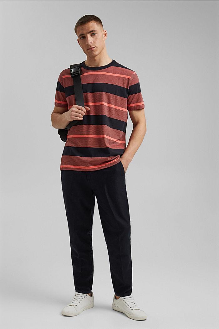 Tričko z žerzeje ze 100% bio bavlny, CORAL RED, detail image number 2