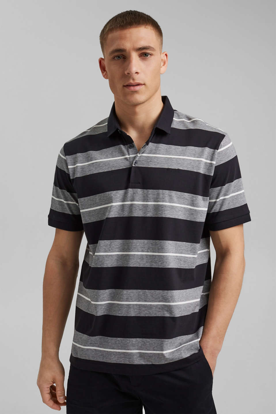 Esprit - Organic cotton-jersey polo shirt