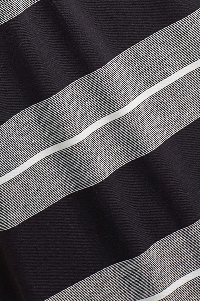 Jersey polo van biologisch katoen, BLACK, detail image number 4