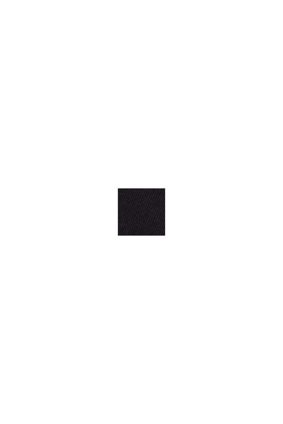 Organic cotton-jersey polo shirt, BLACK, swatch