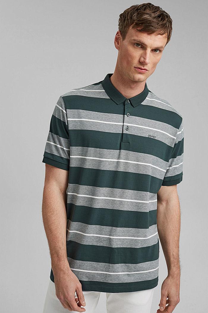 Jersey-Poloshirt aus Organic Cotton, TEAL BLUE, detail image number 0