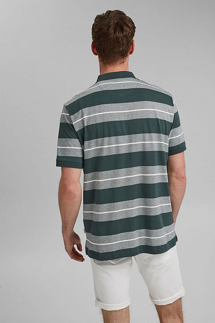 Jersey-Poloshirt aus Organic Cotton, TEAL BLUE, detail image number 3