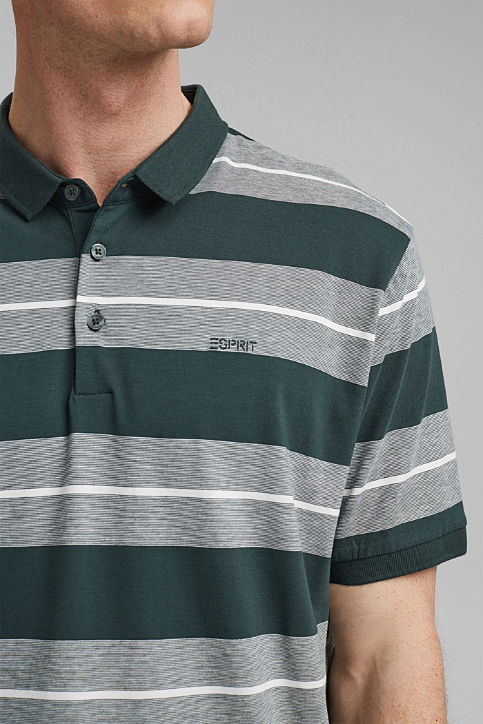Jersey-Poloshirt aus Organic Cotton, TEAL BLUE, detail image number 1