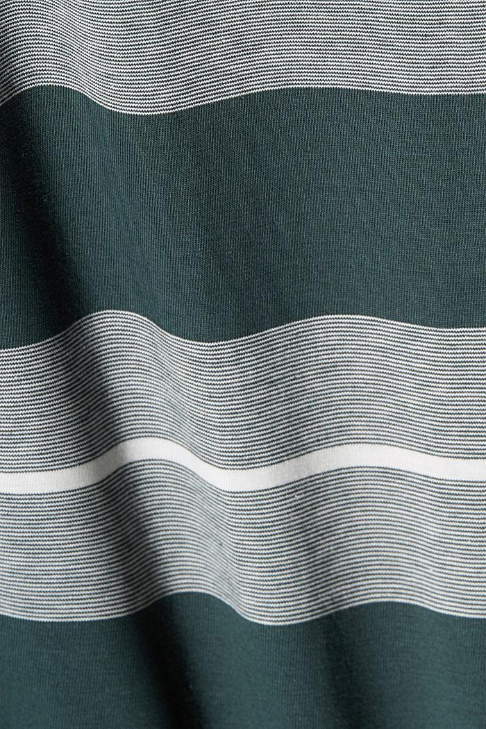 Jersey-Poloshirt aus Organic Cotton, TEAL BLUE, detail image number 4